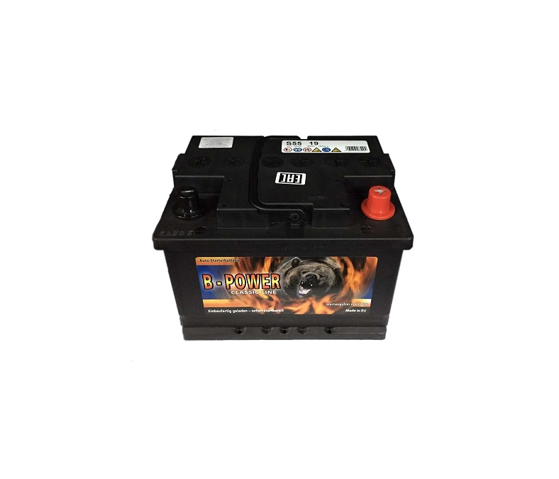 Аккумулятор B-POWER 55A/H 480 A