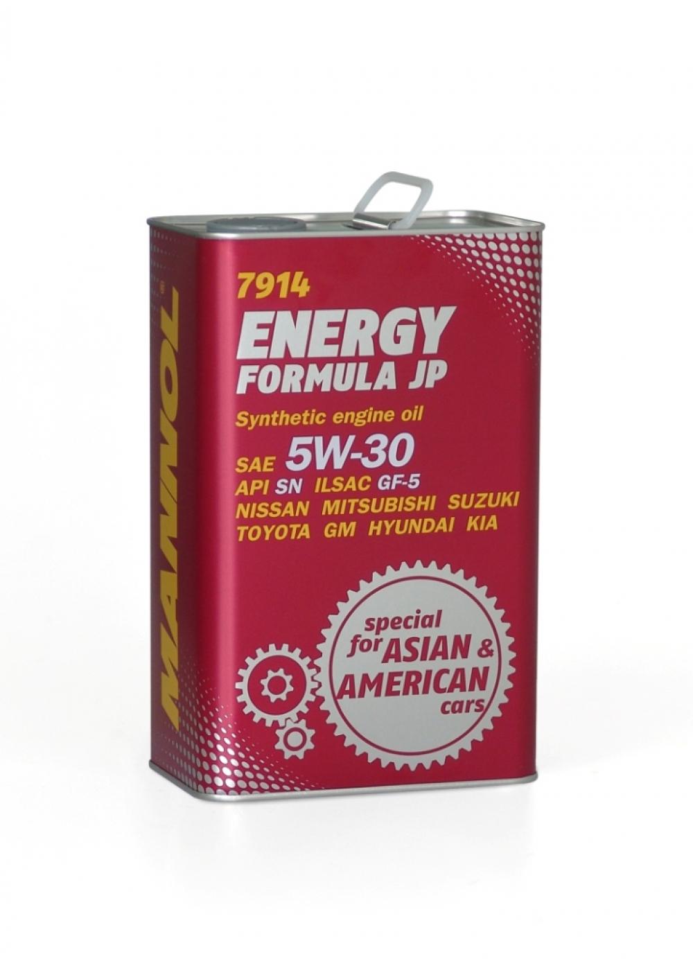 MANNOL Energy Formula JP 5W30 4л