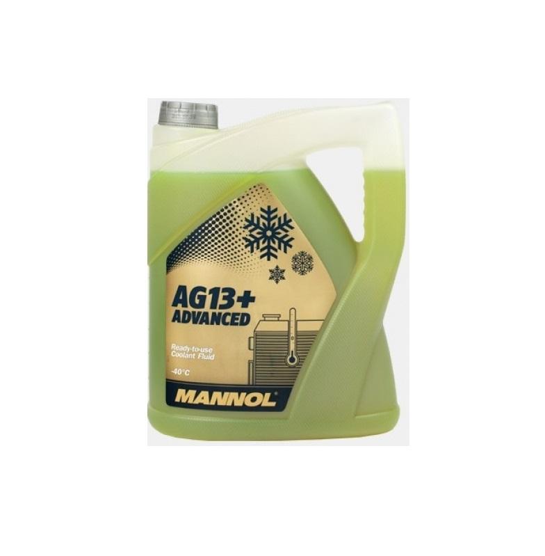 AG13+ MANNOL антифриз (-40 желтый) ADVANCED 5л