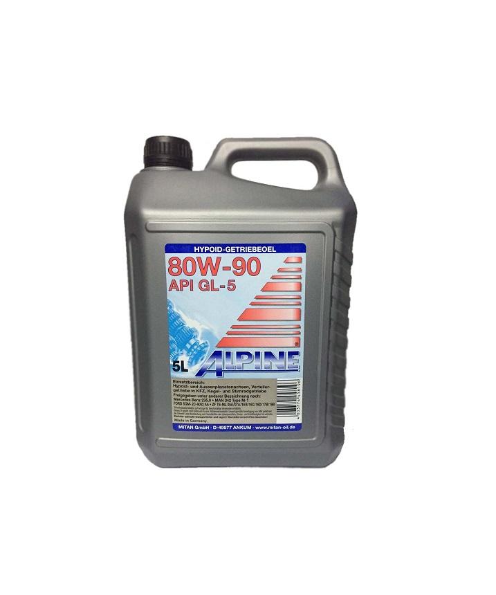 80w90 ALPINE GEAR OIL GL-5 5л